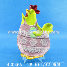 Kitchenware ceramic candy plate with easter design