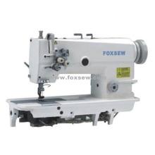 Máquina de costura fixa de ponto fixo de agulha dupla com barra de agulha