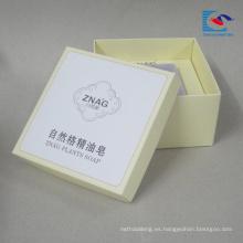 caja de papel personalizada impresa para jabón y embalaje de regalo con etiqueta adhesiva