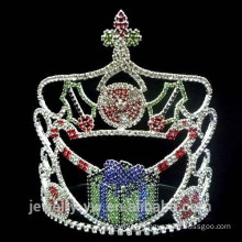 Fashion crystal gift box christmas pageant crowns