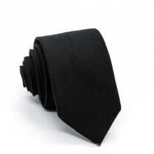 Corbata tejida de poliéster color liso negro