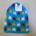 Jacquard Mütze Slouch Hut gestrickt