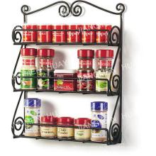 Estante de especias de montaje en pared, 3 piezas, estante de cocina, utensilios de cocina, 3 niveles, negro