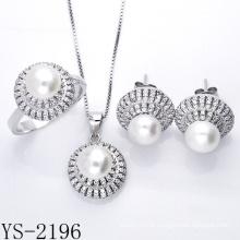 Imitação de jóias 925 Silver Pear Set Jóias para jovens senhoras.