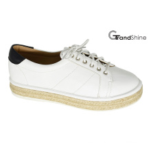 Women′s Platform Espadrille Sneakers with Lace up Shoes