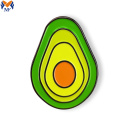 Metalen custom avocado vegan pin badge