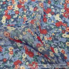 Polyester Water Printed Chiffon Fabric