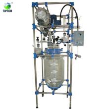 Three Layers 20L Glass Reactor machine TOPTION Brand