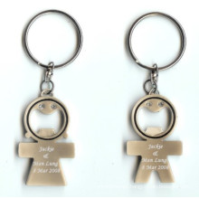 Promotional Metal Lover Bottle Opener Keychain