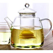 Heat-Resisting Glass Tea Pot Hand Blown
