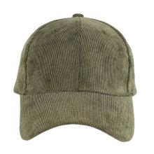Wholesale cheap high quality simple plain corduroy baseball cap
