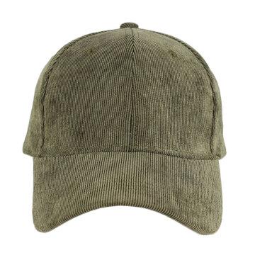 Wholesale pas cher de haute qualité simple plaine en velours côtelé casquette de baseball