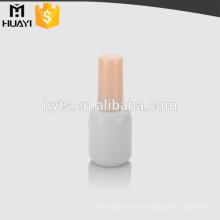 esmalte de uñas redondo de cristal de botella con tapa y cepillo