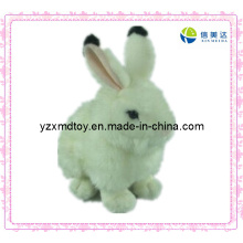 White Fluffy Plush Rabbit Toy