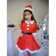 Girl Christmas Lingerie Noël Show Santa Claus Cosplay Uniform