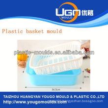 shopping plastic basket injection moulds injection basket mould in taizhou zhejiang china