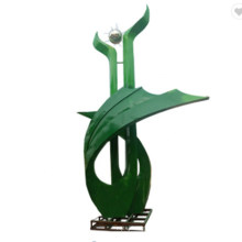 Modern Outdoor Abstract Green Stainless Steel Sculpture for Decoration