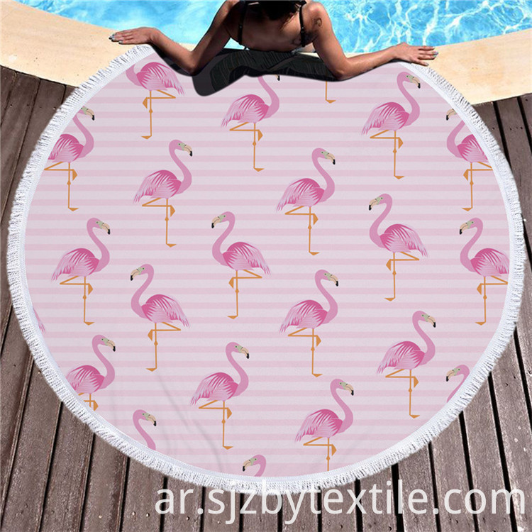 Red Round Beach Towels