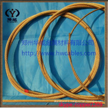 Flexible cables for overhead equipment and return current
