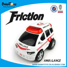 Cartoon friction car toys ambulance