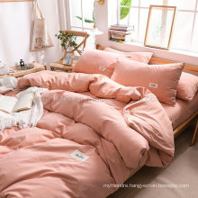 Simple Style Student Dorm Pink Matching New Product Cotton Fabric Bed Sheet