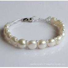 Cadeau Bracelet De Perle D'Eau Douce Naturel (EB1526-1)