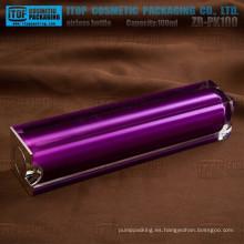 ZB-PK100 100ml acabado brillante venta caliente doble capas botella privada de aire de vacío cuadrado 100ml lujo