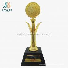 De alta qualidade de fundição de metal artesanato lembrança decoração personalizado WTO Troféu