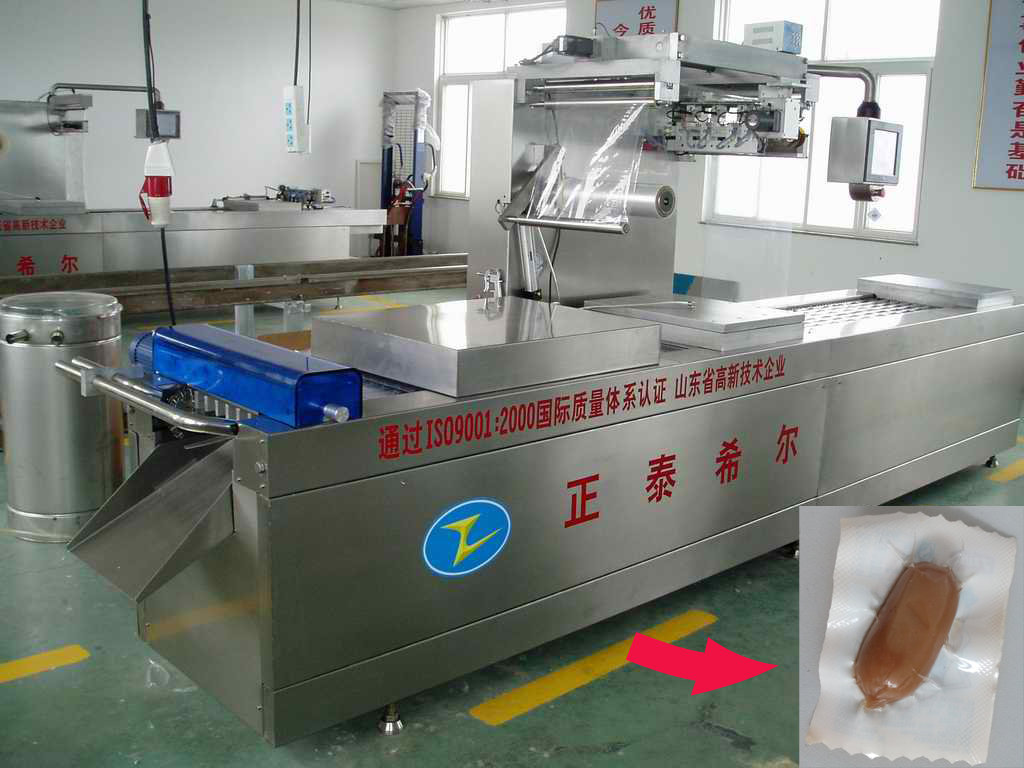 Heat Seal Stretch Vacuum Packing Machine for Sausage