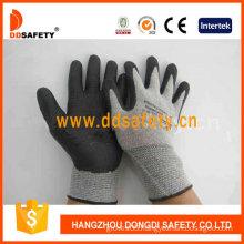Grey Nylon with Black Nitrile Foam Glove-Dnn712