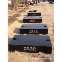 Échelle de 1000 kg d'étalonnage de poids de test