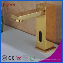 Robinet de capteur automatique d'eau froide d'or de luxe de Fyeer (QH0116G)