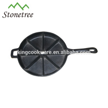 Heavy-duty round cast iron pancake maker with handle