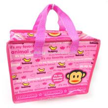 small cartoon pp woven zipper bag
