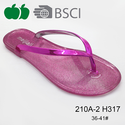 2016 Hot Selling Top Quality Flat Summer Lady Pvc Flip Flop