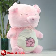 ICTI geprüfte Fabrik-Qualitäts-kundenspezifische Förderung rosafarbenes Schweinplüschspielzeug