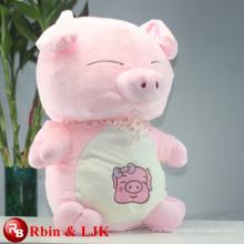 ICTI Audited Factory High Quality Custom Promotion pink pig plush toy