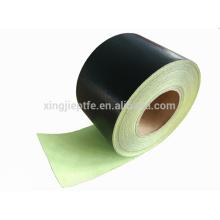 260C resistente al calor jumbo rollo ptfe cinta de fibra de vidrio con adhesivo de silicona hecho en china con papel de liberación