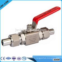 Floating full bore stainless steel cryogenic ball valves