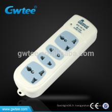 Fabriqué en Chine adaptateur à 2 broches à 3 broches cordon de rallonge électrique