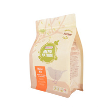 Biodegradable Factory Custom Flat Bottom Zipper Stand up for Pet Food Coffee Snack Food Packaging