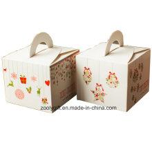 Mini Navidad de impresión de papel de cartón Cupcake caja de regalo