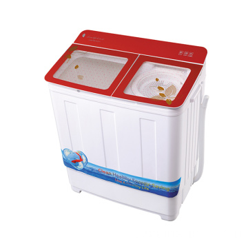 Red Glass Cover 7.2KG Twin Tub Mesin Cuci