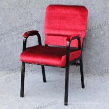 Almofada acolchoada empilhável cadeira da igreja (YC-G30-01)