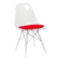 투명한 Eames Armless Chair