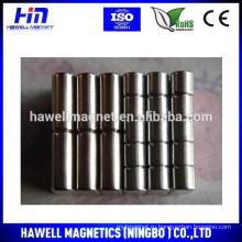 Неодимовый цилиндр никелированный малый размер под заказ (RoHS)