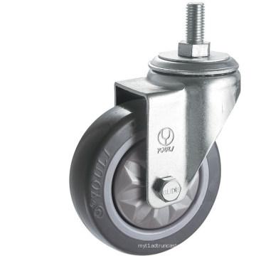 Roulette de roulette en PVC pour service moyen (gris) (Y3602)