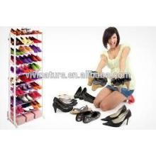 Vivinature White Color 10Tiers Fastness Plastic Shoes Rack