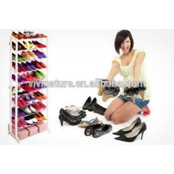 Vivinature White Color 10Tiers Fastness Plastic Shoes Rack