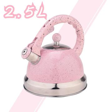 Espejo rosa de acero inoxidable Whistling Tea Kettle